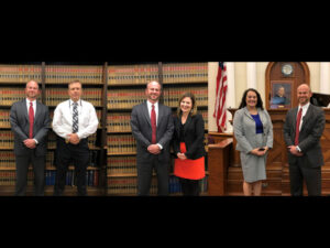 State Attorney John Durrett welcomes three new employees to the Office of the State Attorney